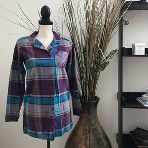 Flannel Button Down Top